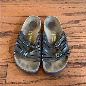 Birkenstock bronze Brown strappy sandals size 10